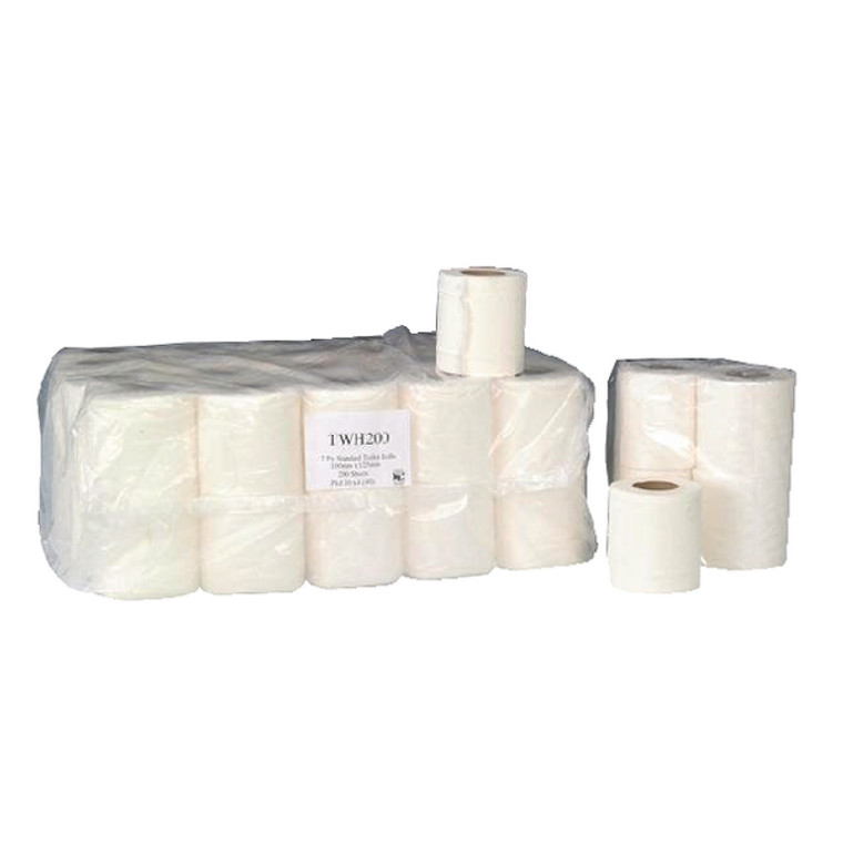 WX00561 2-Ply White 200 Sheet Toilet Roll Pack 36 TWH200T