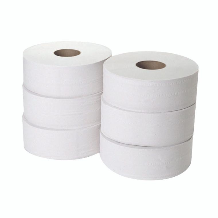 WX00065 2-Ply Jumbo Toilet Roll 300 Metres Pack 6 JWH330