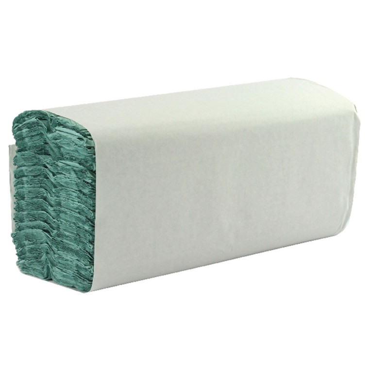 WX43094 1-Ply Green C-Fold Hand Towels Pack 2850 WX43094