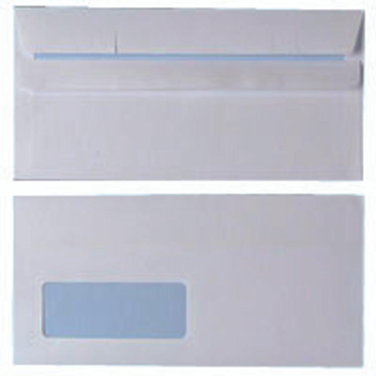 WX3481 Envelope DL Window 90gsm White Self Seal Pack 1000 WX3481