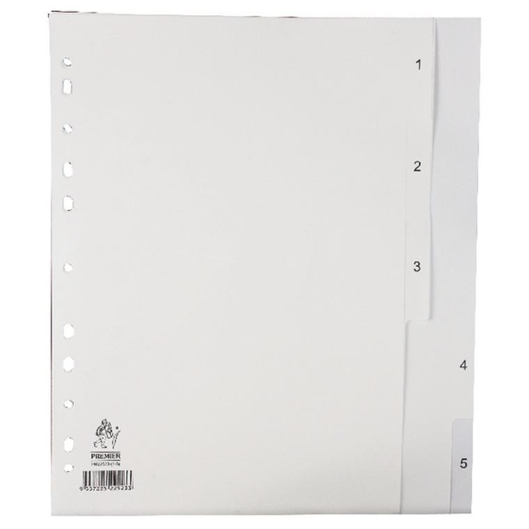 WX01352 A4 White 1-5 Polypropylene Index WX01352