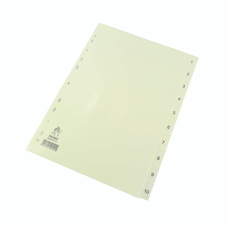 WX01353 A4 White 1-10 Polypropylene Index WX01353