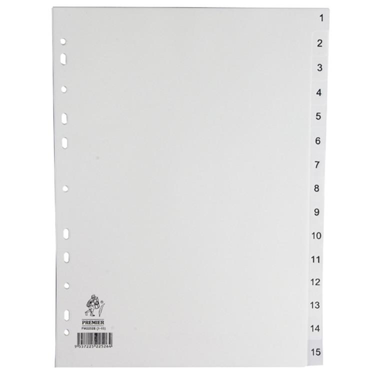 WX01355 A4 White 1-15 Polypropylene Index WX01355