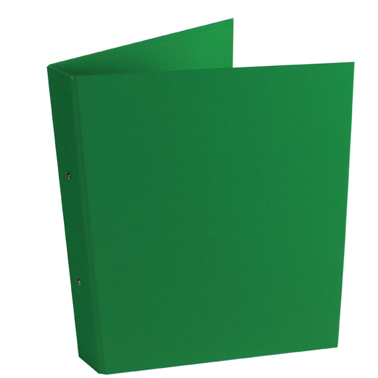 WX02008 Green A4 2-Ring Ring Binder 25mm capacity Pack 10 WX02008