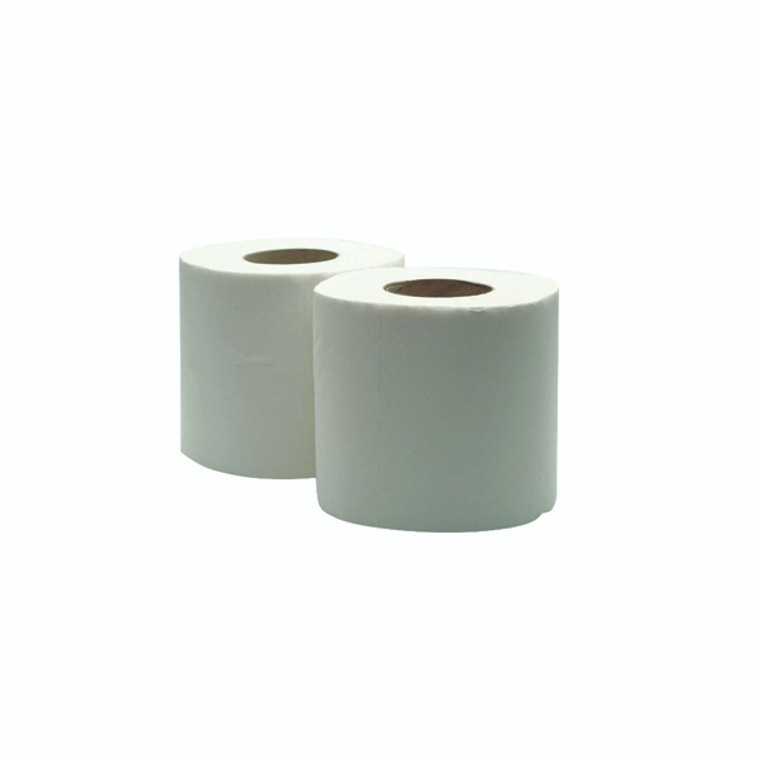 WX43093 White 320 Sheet Toilet Roll 100 recycled material soft absorbent Pack 36 WX43093