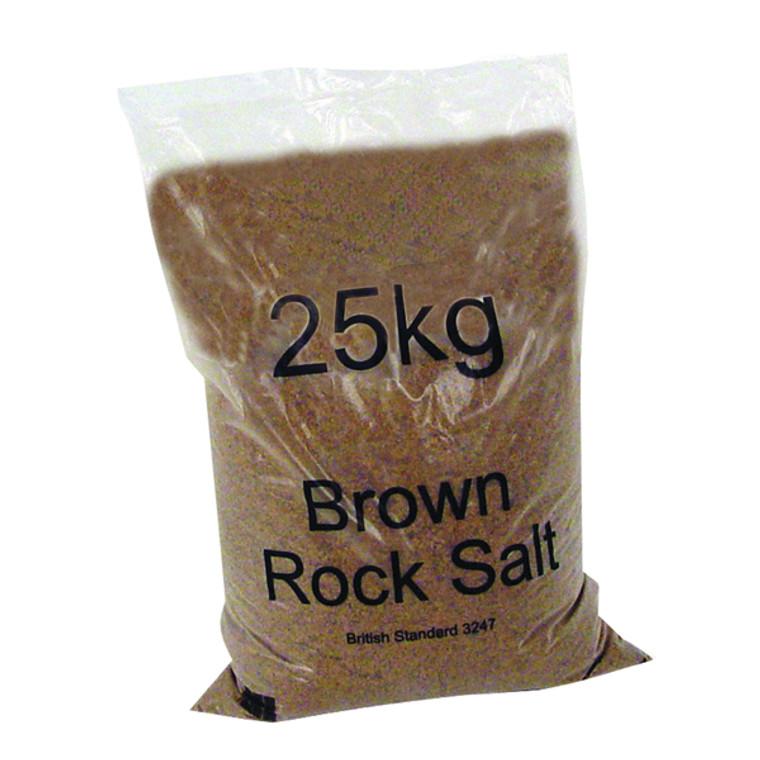WE25290 Winter Dry Brown Rock Salt 25kg Pack 40 383578