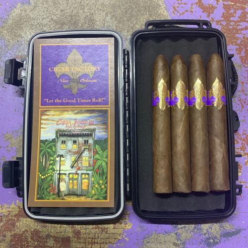 4 Vintage Vieux Carre Belicoso  -100% Nicaraguan filler and binder with a Cameroon wrapper  FREE travel humidor  retail: $100.00
