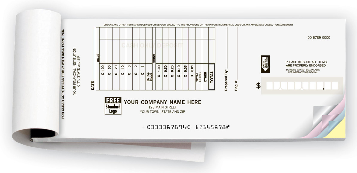 Keep your business organized with deposit slips