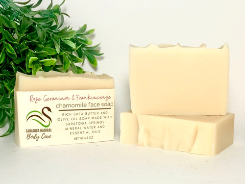 Chamomile Face Soap with Rose Geranium and Frankincense *Dry and normal skin