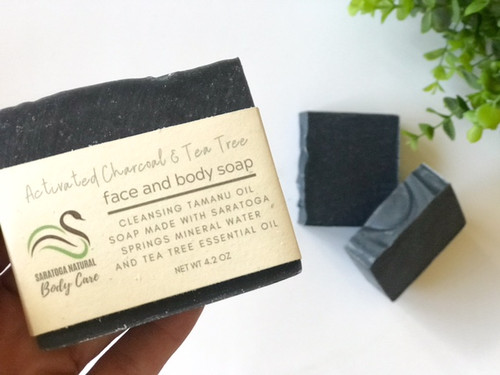 Activated Charcoal and Tea Tree Oil Face and Body Soap *Oily skin