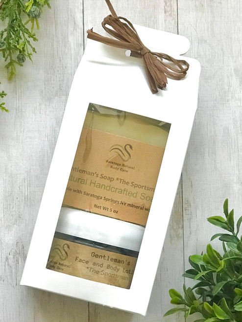 Men's Body Lotion and Soap Gift Set