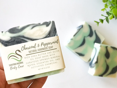 Activated Charcoal Peppermint Soap *Awakening *Cleansing
