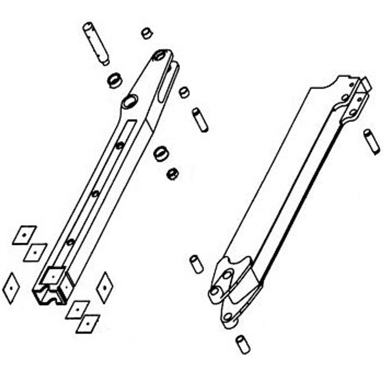 Extendahoe Dipper Arm Parts