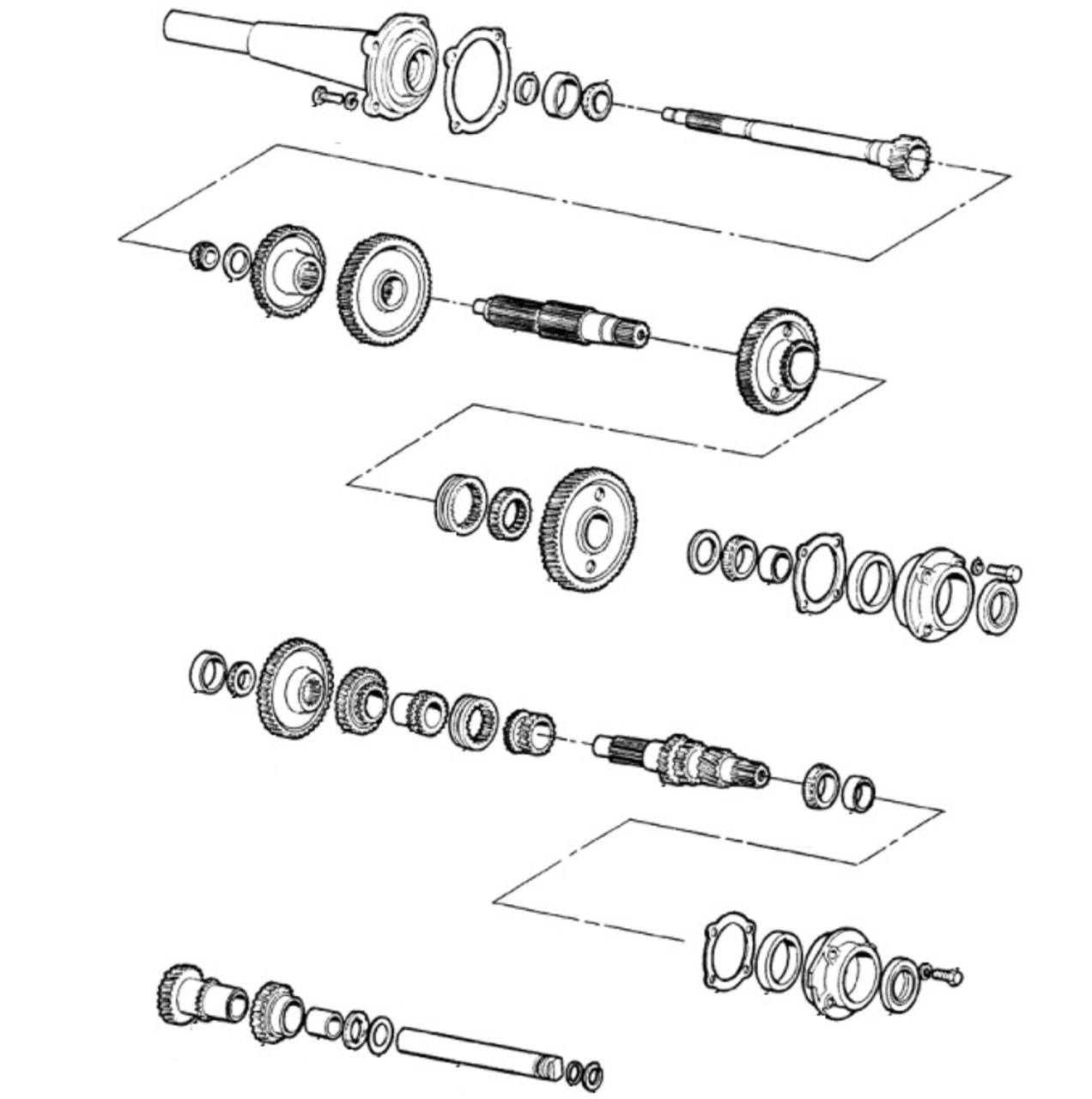 ford tractor transmission parts gears, shafts, shift top Ford 5000 Tractor Specs