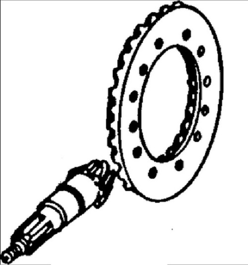 john deere products broken tractor John Deere 310 Bucket ring gear and pinion set front axle marked r41977 r44383 ar45732