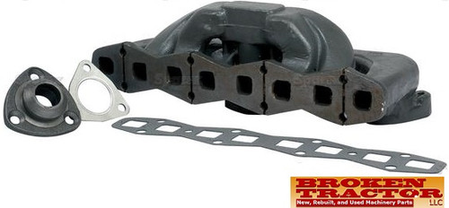 Massey Ferguson Intake Exhaust Manifold -- 1040903M91 Fits MF T020, TO30, TO35, 35, 135, 150, 2135  Fits Models with Continental Gas Engine -Z120, Z129, Z134 Includes Manifold, Adapter, Gaskets