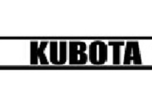 Kubota Tractor Hood Decal Set -- KB6200