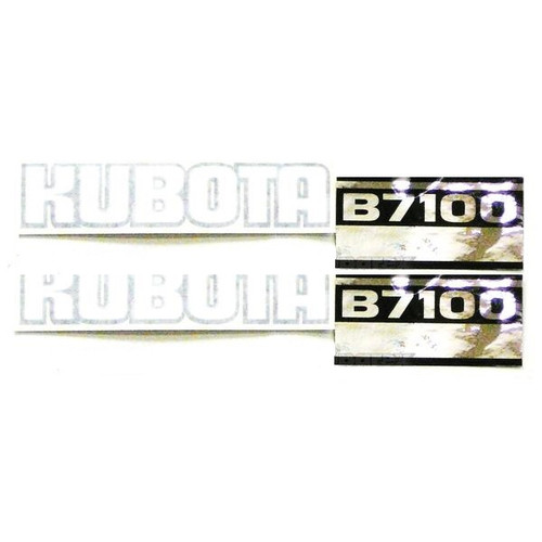 Kubota Tractor Hood Decal Set -- KB7100