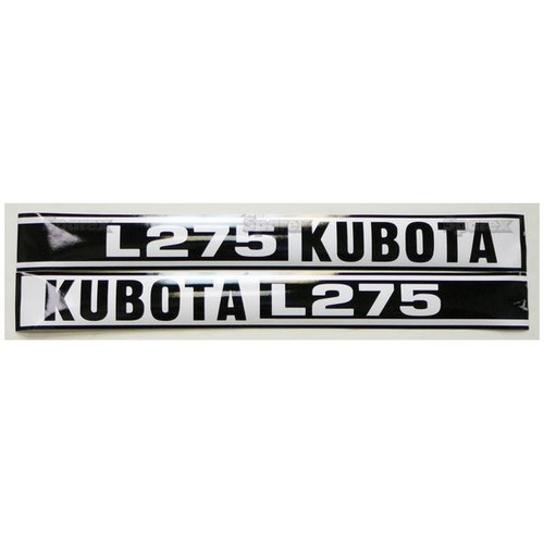 Kubota Tractor Hood Decal Set -- KL275