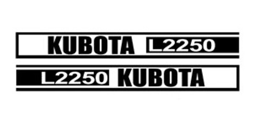 Kubota Tractor Hood Decal Set -- KL2250