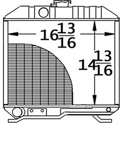 """Radiator Core Size16.812"""" Wide14.812"""" Tall2 ROWS OF TUBESSERPENTINE FIN CONST. -- 17331-72060"""