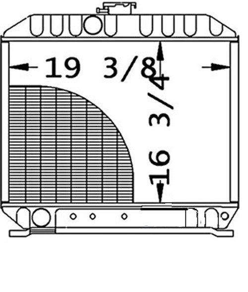 """Radiator Core 19.375"""" WIDE16.750"""" HIGH3 ROWS OF TUBESSERPENTINE FIN CONST. -- 32590-10210"""