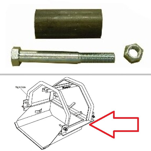 King Kutter Dirt Scoop Latch Roller Assembly -- 505001