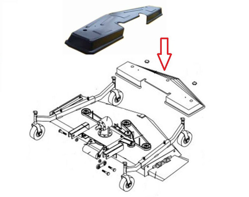 King Kutter 4' Finish Mower Motor Top Belt Cover -- 124684
