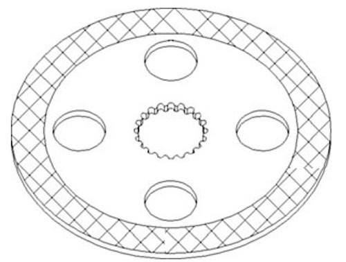 Kubota Tractor Brake Disc -- 32530-28280