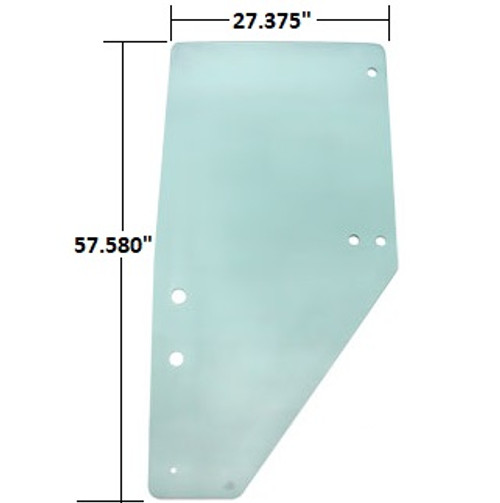 Kubota Tractor Cab Door Glass (Left Hand) -- 3F260-53080