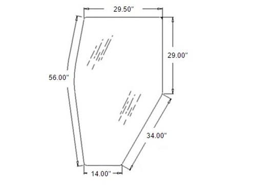 Door Glass L/H -- 3A751-70770