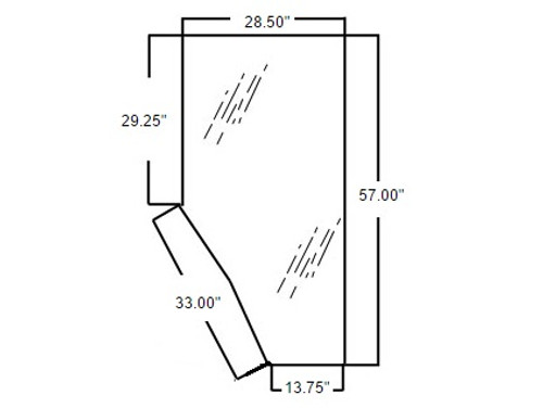 3G710-70670 Kubota Cab Door Glass (Right Hand)