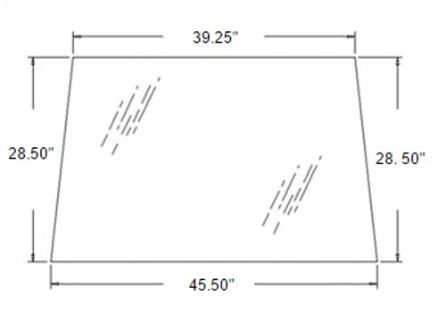 Rear Upper Glass -- 3G710-71010
