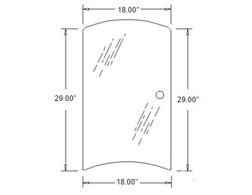 Side Glass R/H -- 3C581-70540