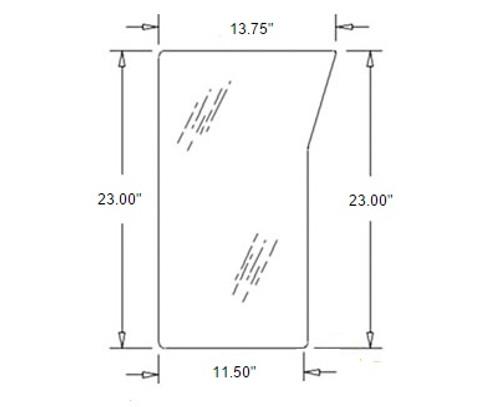 Lower Windshield Glass R/H -- 3C581-70520
