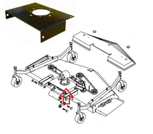 King Kutter 4' Finish Mower Gear Box Mounting Plate -- 403029