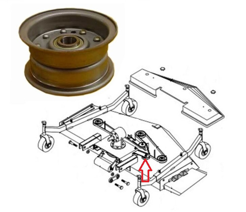 King Kutter Mower Idler Pulley (Double V-Belt) -- 164091