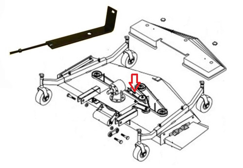 King Kutter Mower Belt Adjuster Assembly -- 403688