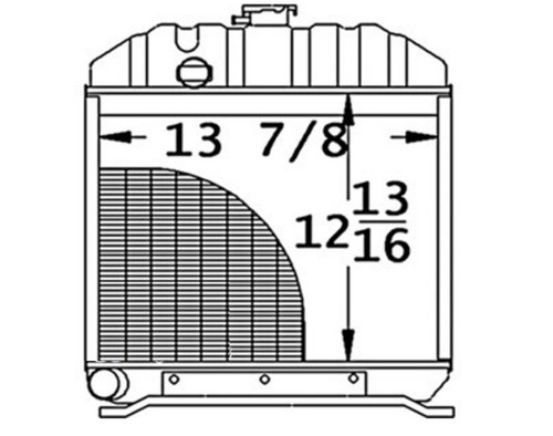 """Radiator Core Size13.625"""" Wide12.812"""" High3 Rows of TubesSerpentine Fin Const. -- 15201-72060"""