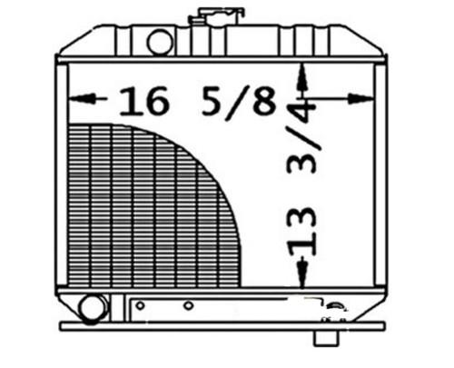 Kubota L295DT, L295F Tractor Radiator -- 15301-72060