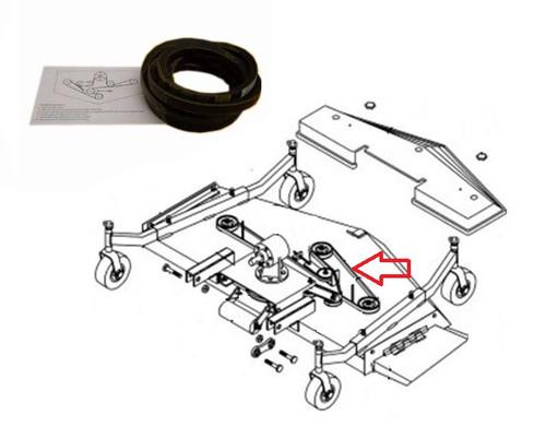 """King Kutter 6' Mower Standard Belt (Single Groove)(148"""" Long) -- 167148"""