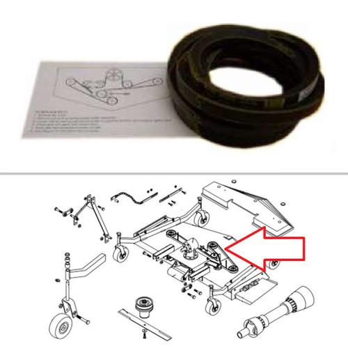 King Kutter 6' Finish Mower Standard Single Groove Belt -- 167148