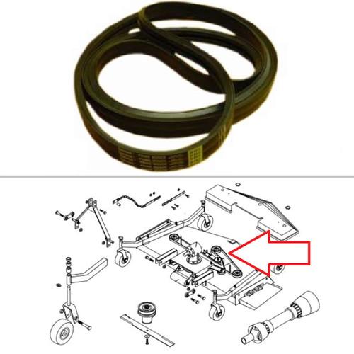 """King Kutter 7' Mower - Double V-Belt (Double Groove) (162"""" Long) -- 167163"""