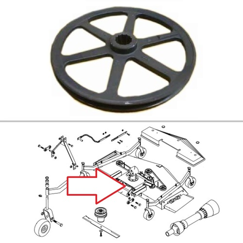 King Kutter Mower Main Pulley -- 165114