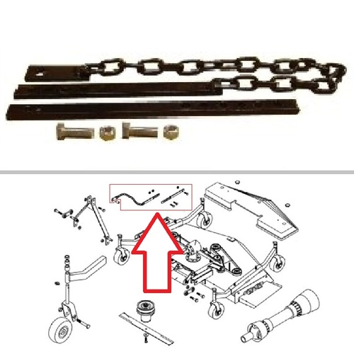 King Kutter Finish Mower Chain Assembly and Anchor Bar with Bolts -- 502690