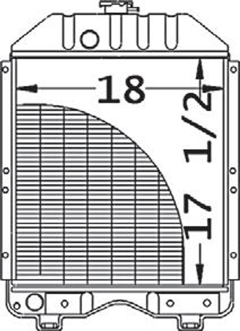 """Radiator Core Size18.000"""" Wide17.500"""" Tall3 ROWS OF TUBES8 FINS PER INCH -- 15482-99280"""