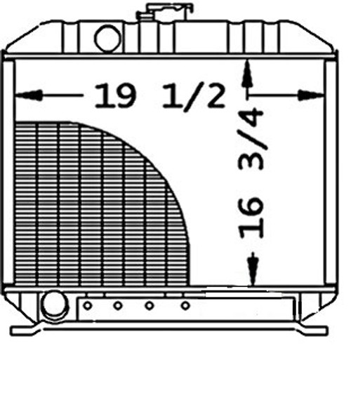 """Radiator Core Size19.250"""" Wide16.750"""" Tall4 ROWS OF TUBESSERPENTINE FIN CONST. -- 15612-72060"""