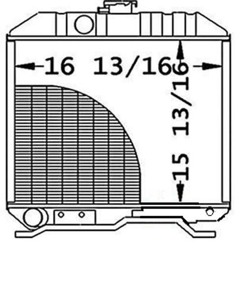 """Radiator Core Size16.812"""" WIDE15.812"""" HIGH2 ROWS OF TUBESSERPENTINE FIN CONST. -- 16743-72060"""