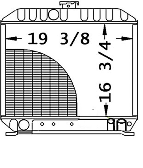 """Radiator Core Size19.375"""" WIDE16.750"""" HIGH3 ROWS OF TUBESSERPENTINE FIN CONST. -- 17381-72060"""