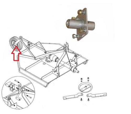 King Kutter Rotary Cutter Tail Wheel Hub -- 191100